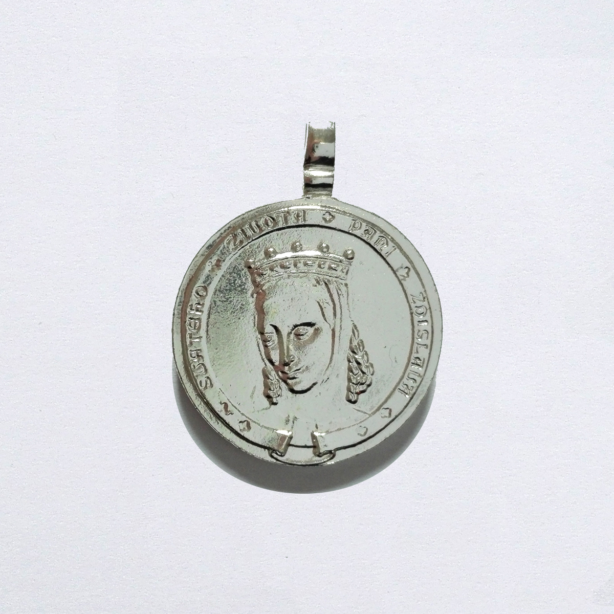 Medailka - svatá Zdislava - stříbřená.