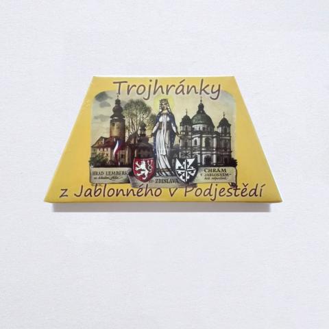Trojhránky z Jablonného v Podještědí.