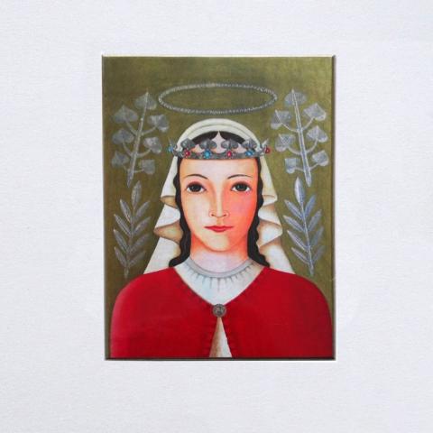 Svatá Zdislava - obraz od Merkvarta.